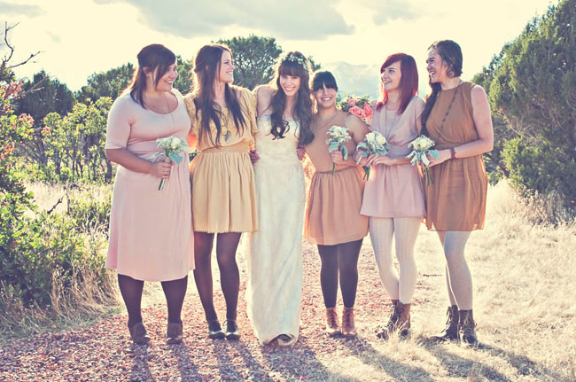 bridemaids in tights