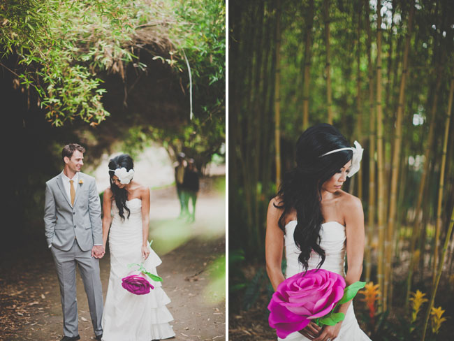 Handmade Paper Flower Wedding: Nata + Jess - Green Wedding Shoes