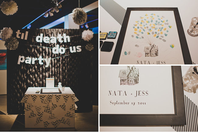 till death do us party, thumbprint guest book