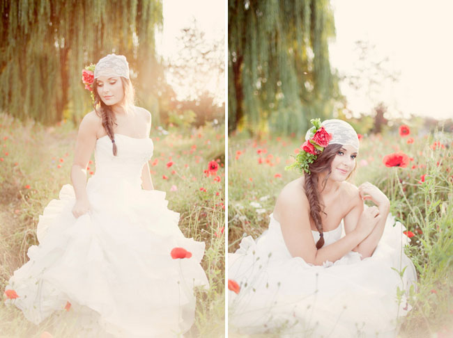 poppy field bridal inspiration