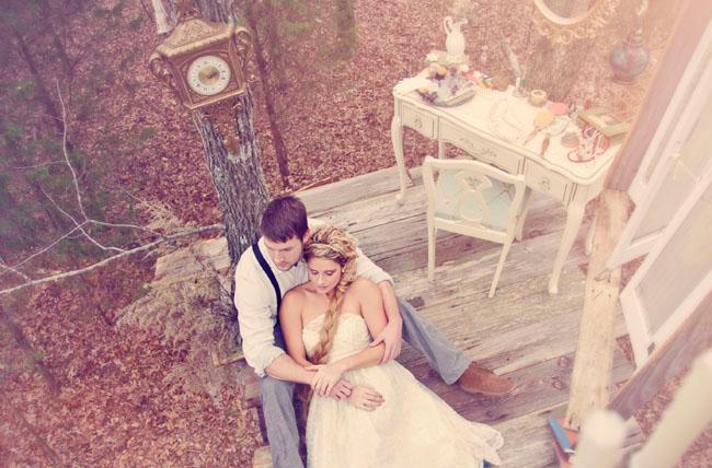 rapunzel fairytale wedding shoot on Green Wedding Shoes blog