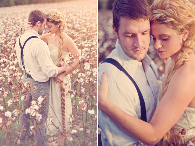 rapunzel and prince, cotton field