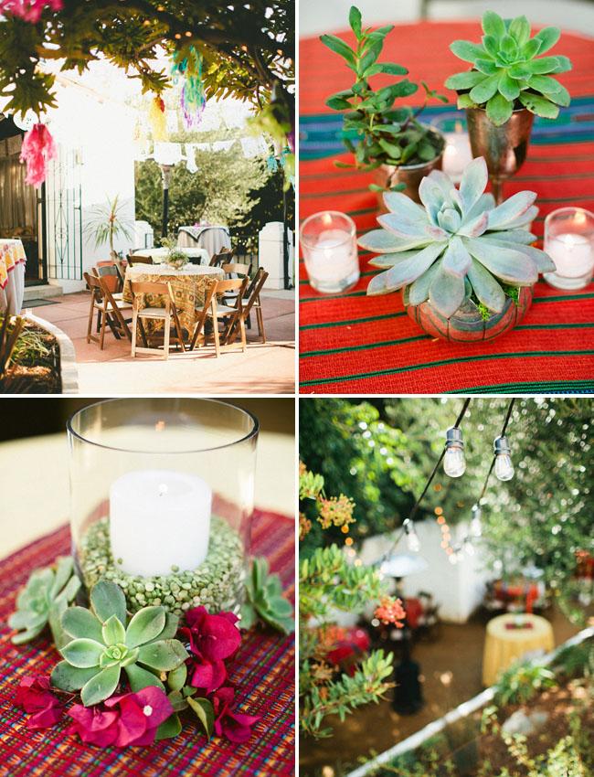 A Backyard Fiesta Wedding Celebration Rebecca Thomas