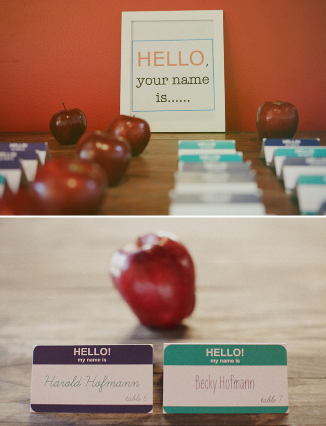 hello my name is...escort cards