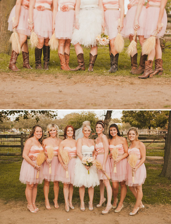 bridemaids in pink