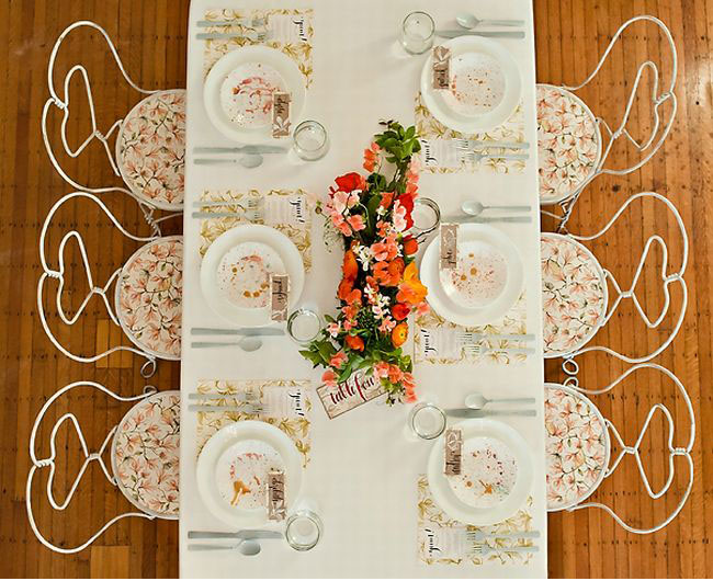 tangerine tango wedding inspiration