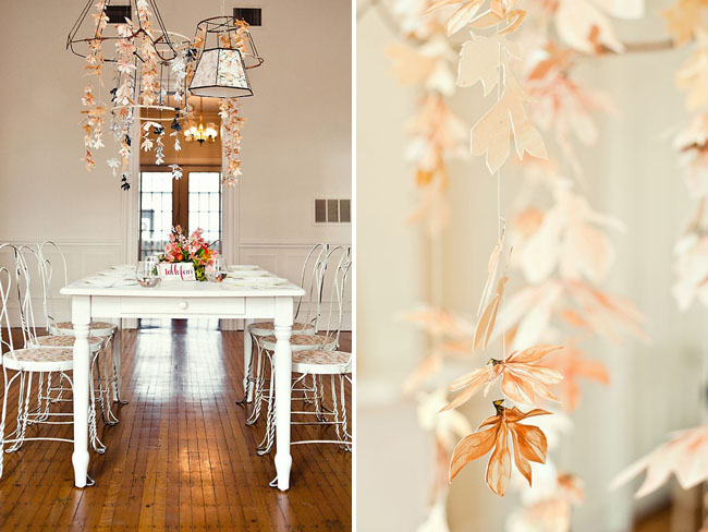 Wedding inspiration with tangerine tango green wedding shoes paper flower chandelier mightylinksfo