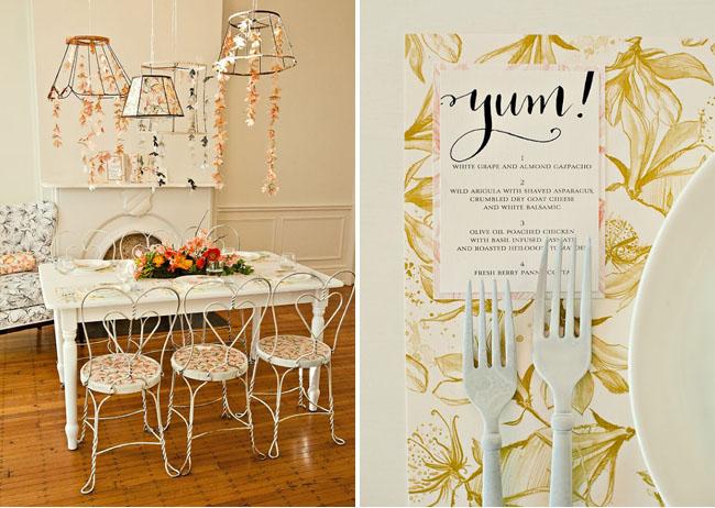 paper flower chandelier