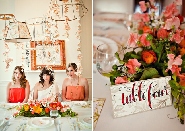 trellis wedding table number