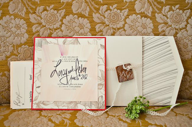trellis wedding invitation