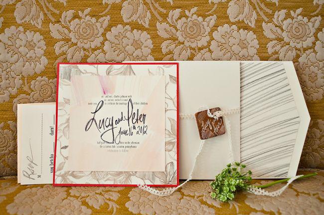 trellis wedding invitation