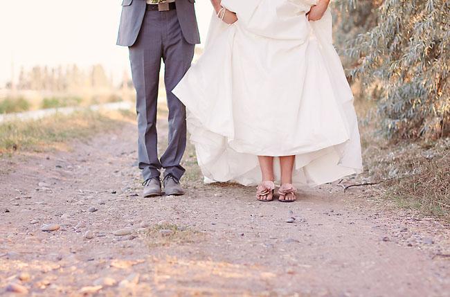 bride in sandals