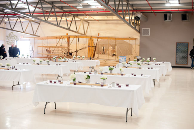 airplane hangar reception