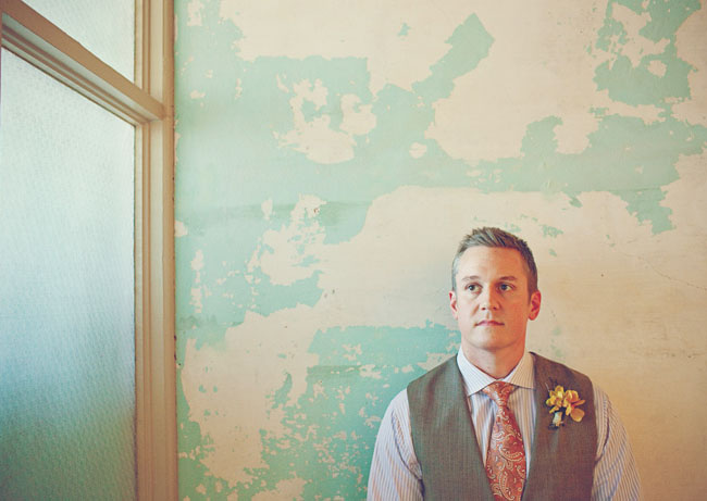 groom, paisley tie