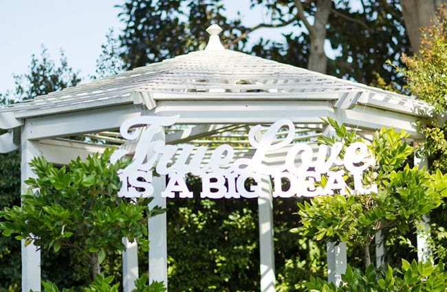 true love is a big deal wooden sign