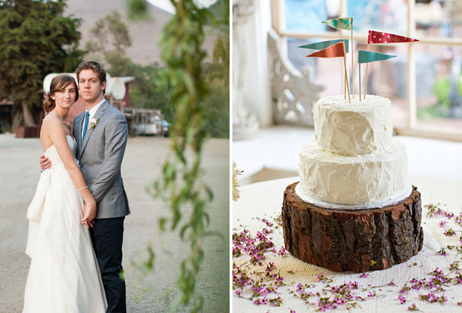 wedding cake with flags