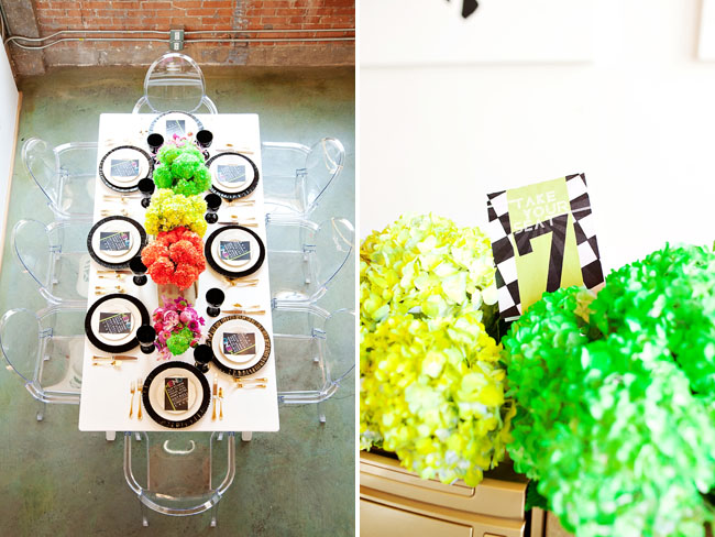bright colors and music wedding inspiration