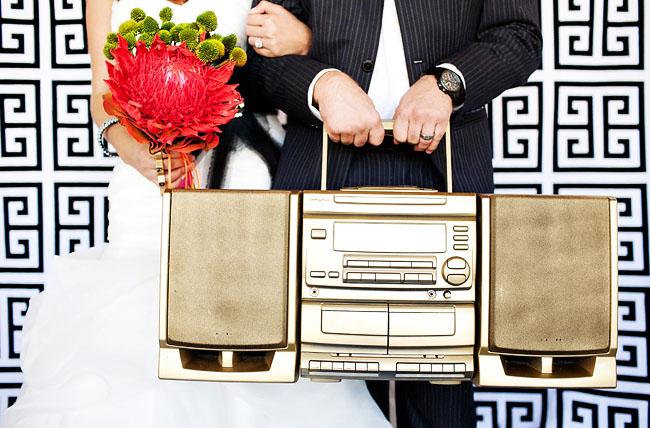 gold boom box