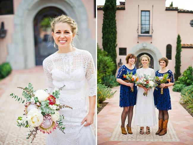 bridemaids in navy blue