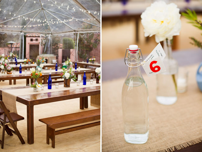 bottle reception decor