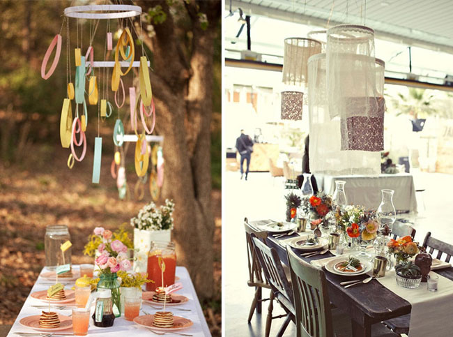 hanging embroidery hoops decor