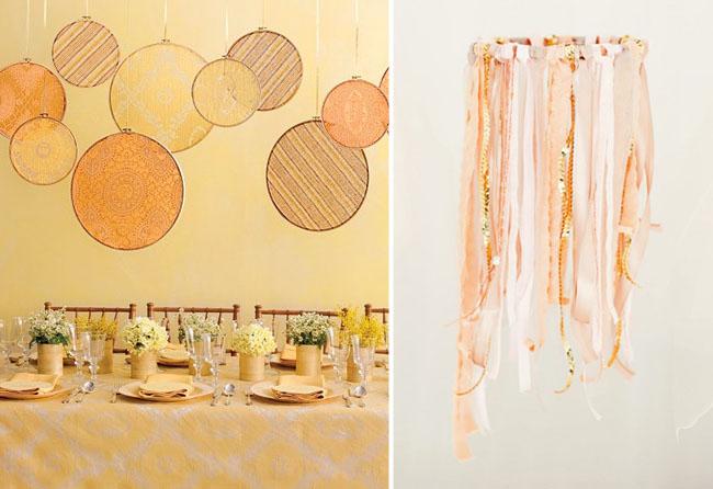 embroidery hoops wedding decor