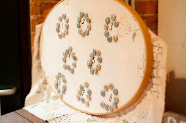 button embroidery escort card