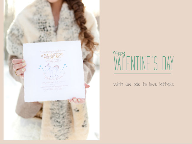 Whimsical Valentine's Day Inspiration with Love Letters ...