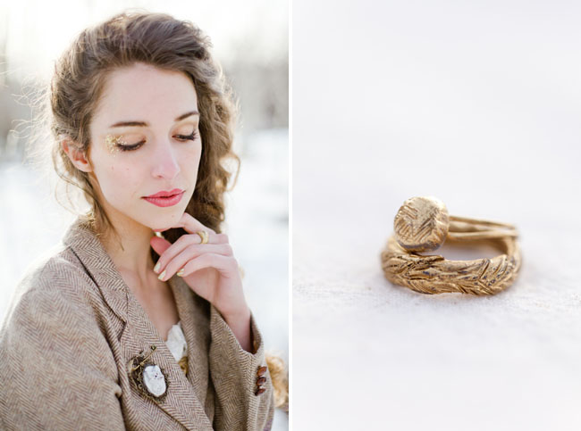 gold ring, gold braided ring