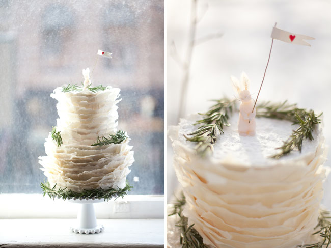 layered wedding cake, bunny cake topper