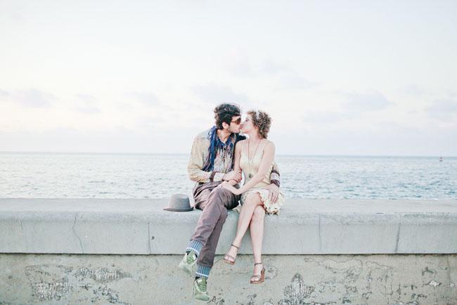 havana engagement beach