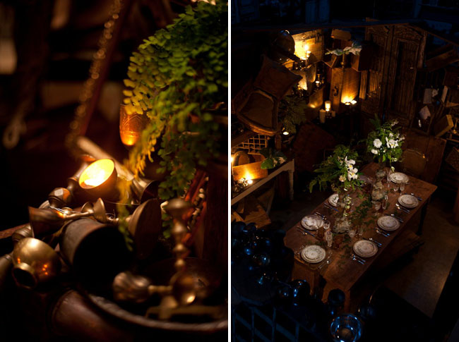 indiana jones wedding inspiration tablescape
