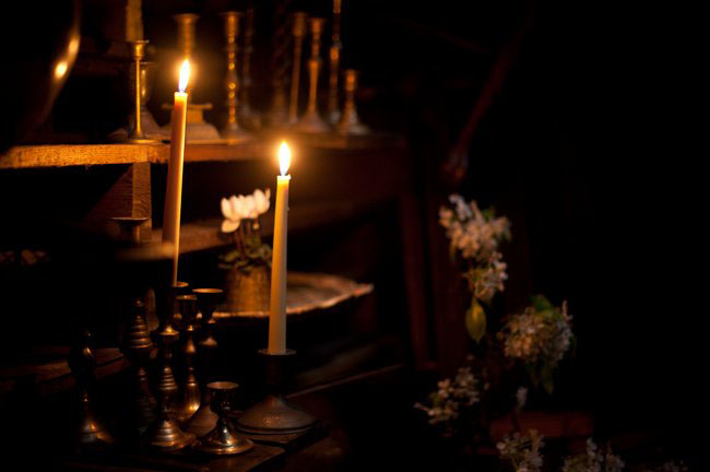 indiana jones wedding inspiration candles
