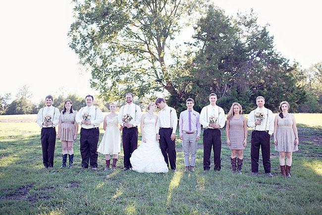 rustic bridal party