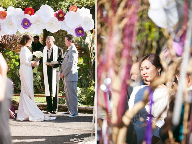 paper flower ceremony decor