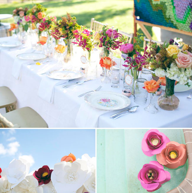 colorful flower centerpieces