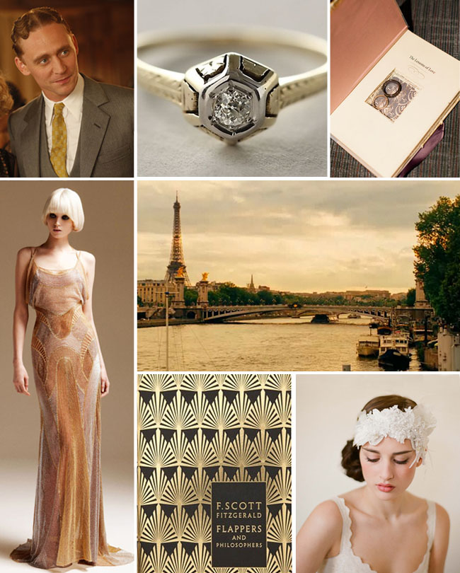 midnight in paris wedding inspiration