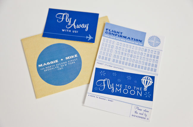 come fly with us invites