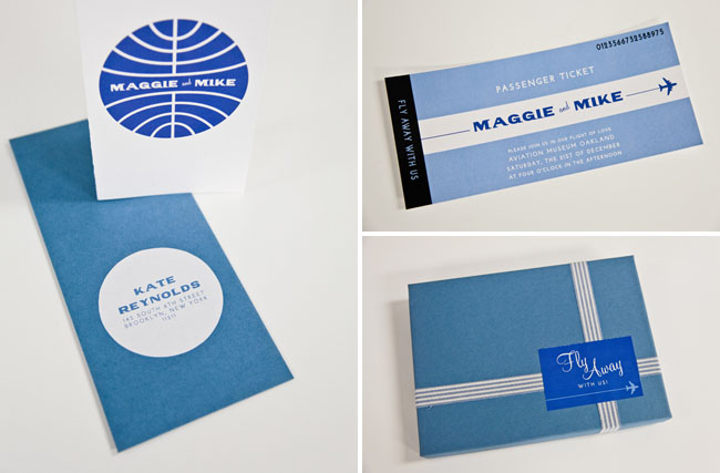 airplane wedding invitations
