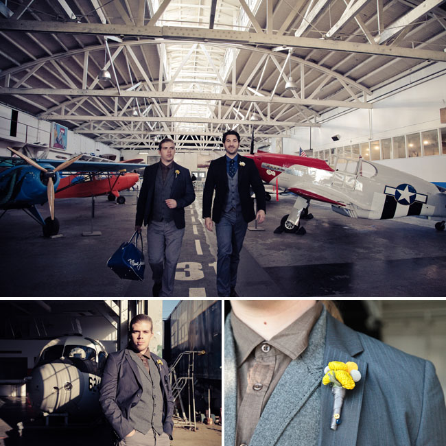 groom with airplanes