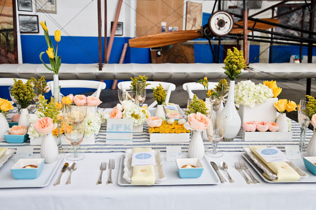 Come Fly With Us: Wedding Inspiration from Pan Am - Green ...