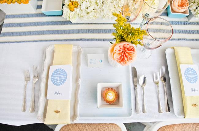pan am wedding table