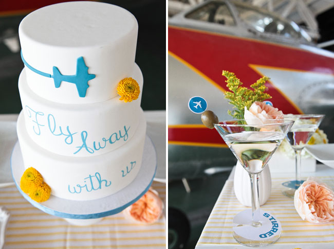 aviation themed wedding cake come fly with us wedding inspiration from pan am green 10958