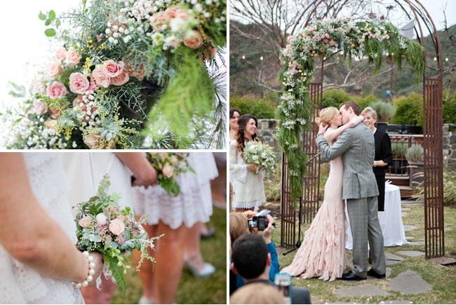 A Romantic Wedding With A Pink Wedding Dress: Lauren + Dan