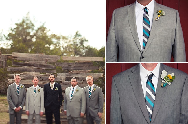 blue striped ties, groomsmen