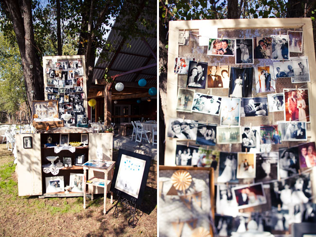 photo wall wedding
