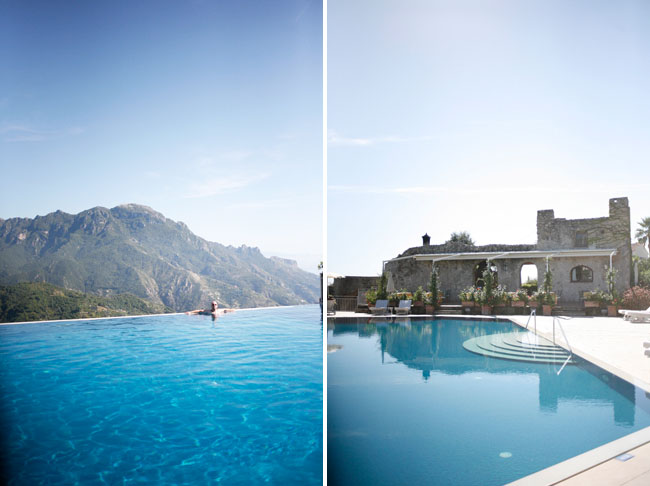 A european honeymoon amalfi coast green wedding shoes for Hotels in ravello with swimming pool