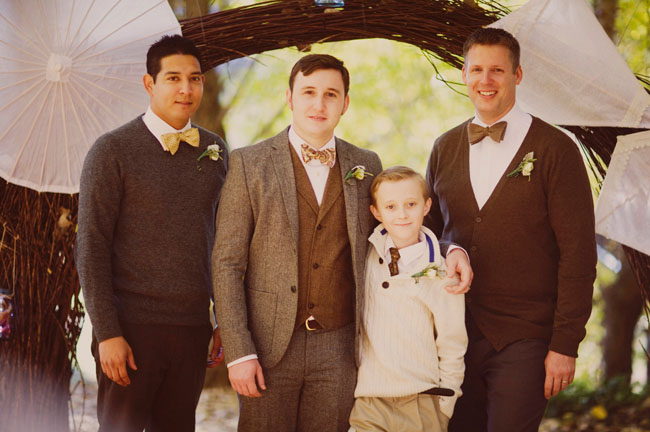 groomsmen in bowties