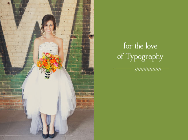 typography wedding