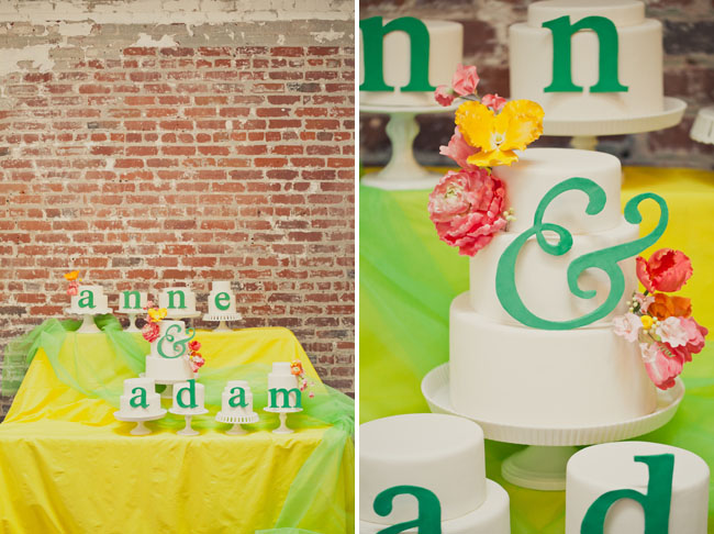 wedding cakes with letters